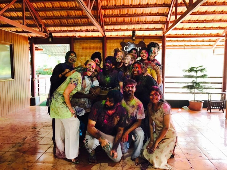 Holi celebration at Greens Ayurveda
